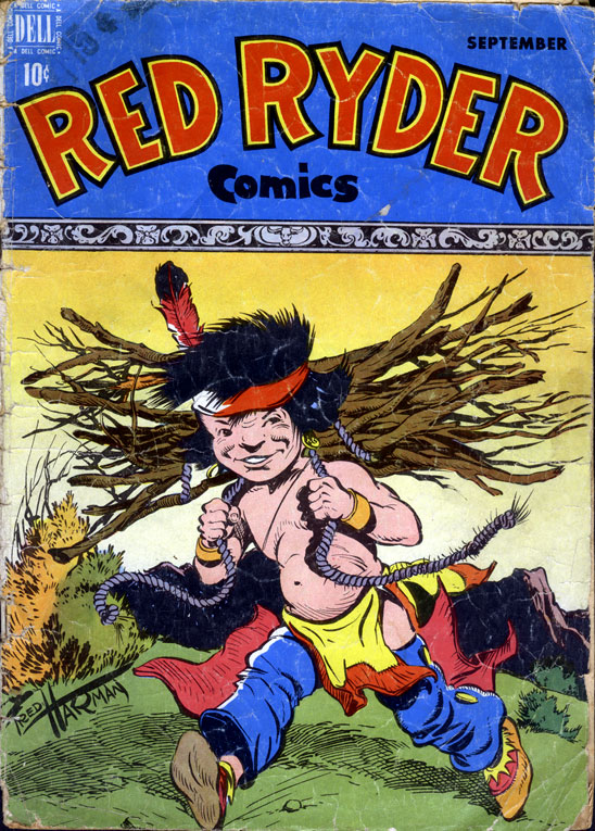 Red Ryder comic book cover by Fred Harman