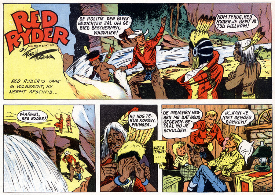 Red Ryder comic panel (dutch version) by Fred Harman