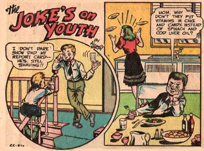 The Joke's on Youth, by Al Hartley (Wonder Comics #14)