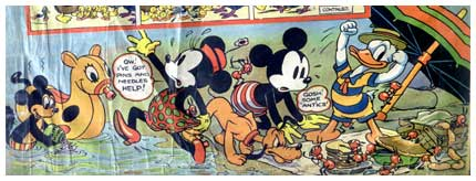 Part of a cover for Mickey Mouse Weekly, by Wilfred Haughton