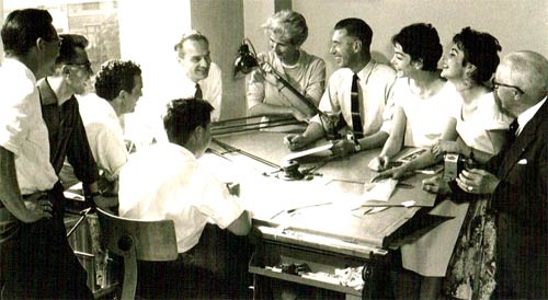 Studio Herge in 1956