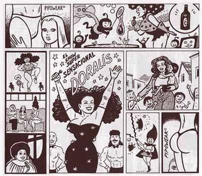 comic art by Gilbert Hernandez (Beto), 1997