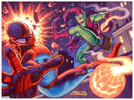 Spiderman, by Greg and Tim Hildebrandt