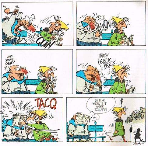 Comic strip for Spirou +5 (1983)