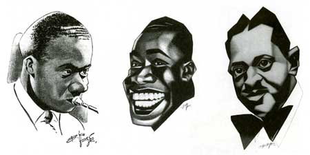 jazz illustrations, by Boy ten Hove