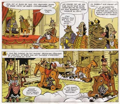 comic from Fluide Glacial, by Jean-Pierre Hugot