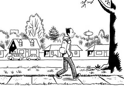 Glenn Walking, drawn by Kevin Huizenga
