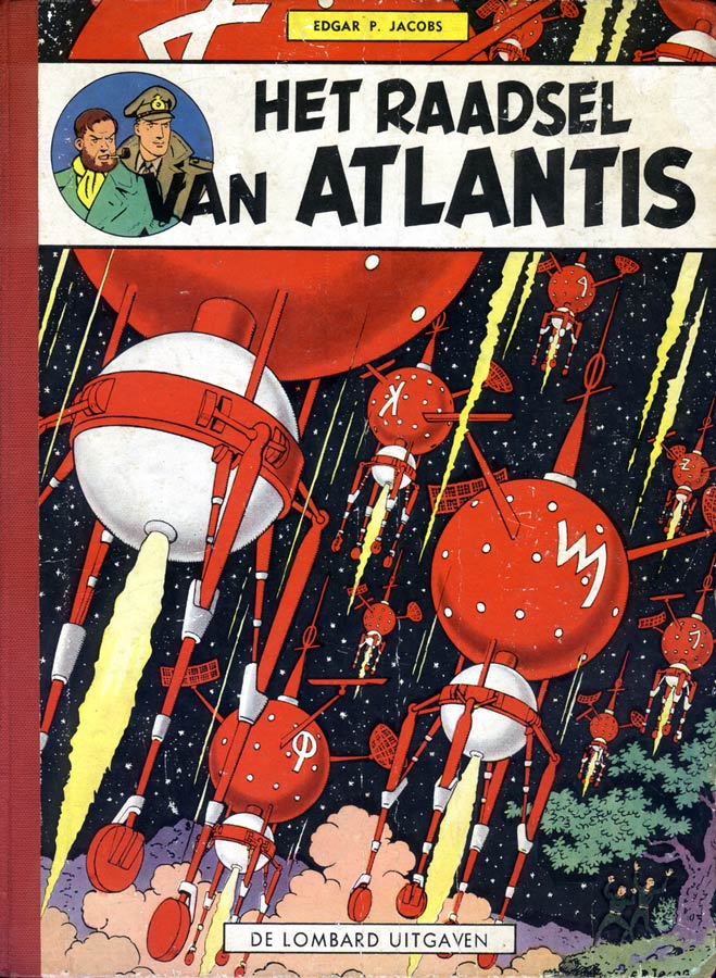 cover for Het Raadsel van Atlantis, by E.P. Jacobs