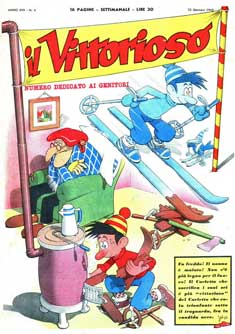 cover for Il Vittorioso by Benito Jacovitti