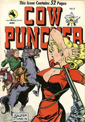 Cow Puncher cover by Walter Johnson (1949)