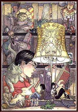 Books of Magic - cover by Michael Kaluta