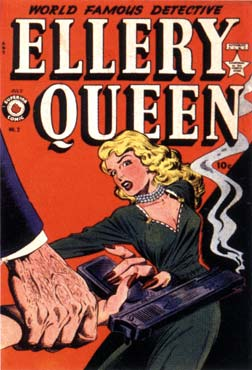 Ellery Queen cover, by Jack Kamen (1952)