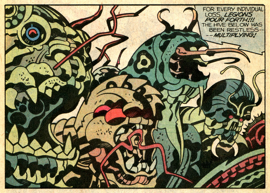 panel from 'Captain Victory and the Galactic Rangers', by Jack Kirby 1982