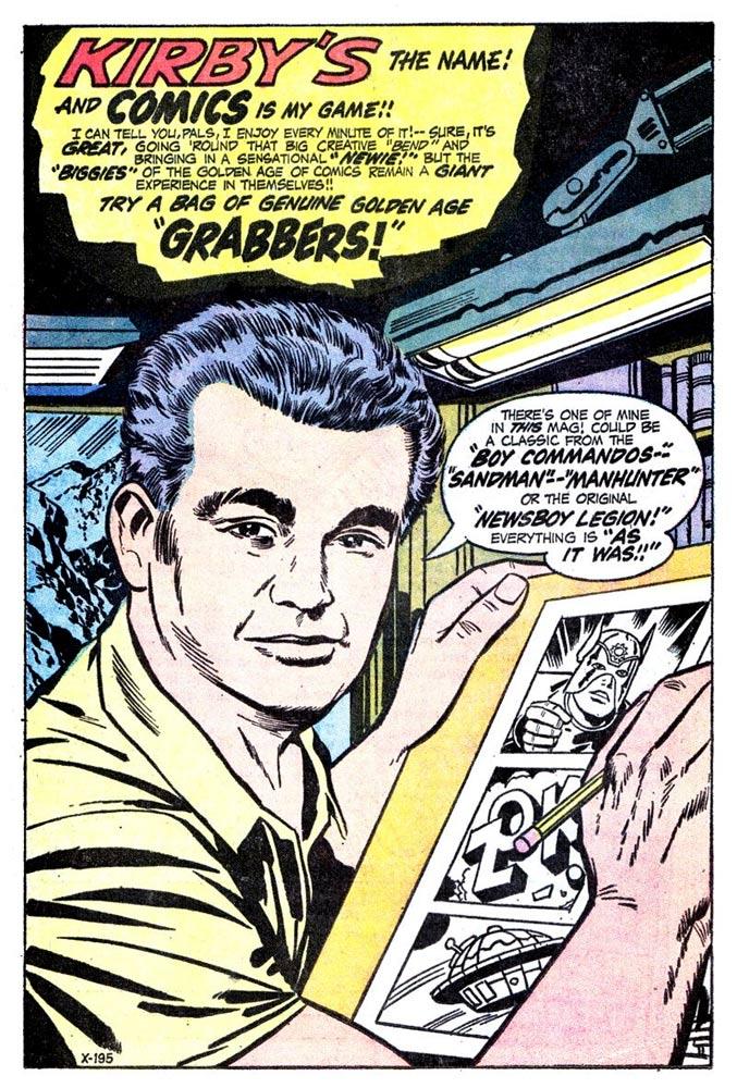 Jack Kirby self-portrait