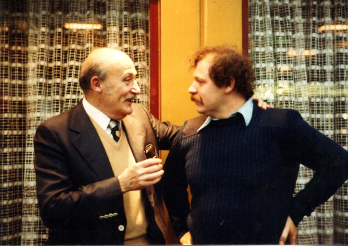 Kees Kousemaker with Will Eisner in 1980