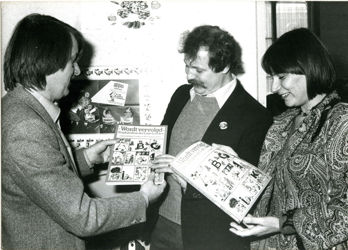 Kees and Evelien Kousemaker at the book presentation of Wordt Vervolgd in 1980