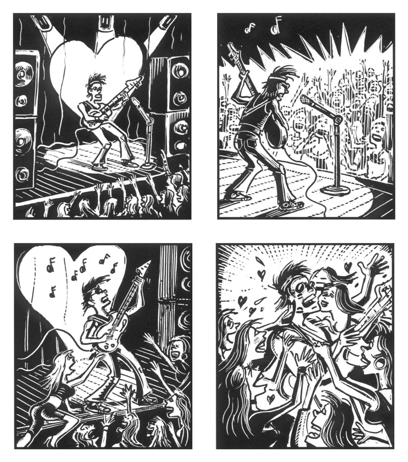 panels from Mind's Eye, by Peter Kuper