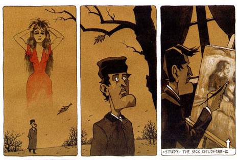 Edvard Munch comic by Steffen Kverneland