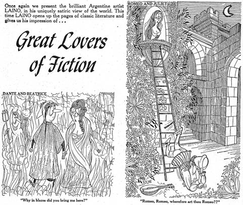 Great Lovers of Fiction (from Cracked) by Laino