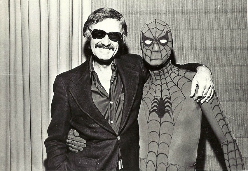 Stan Lee and Spider-Man