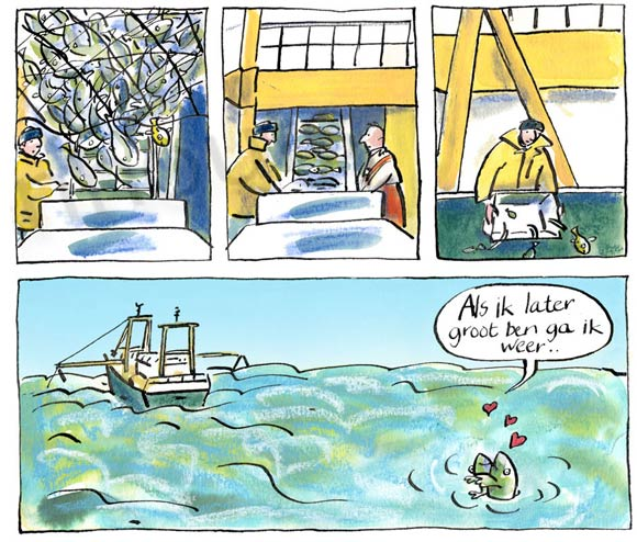 Children's comic for the Maritime museum by Jolet Leenhouts
