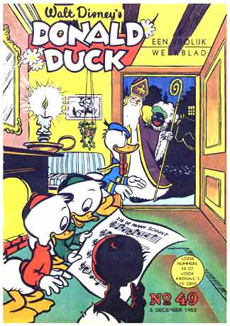Donald Duck cover, by Endre Lukács 1953