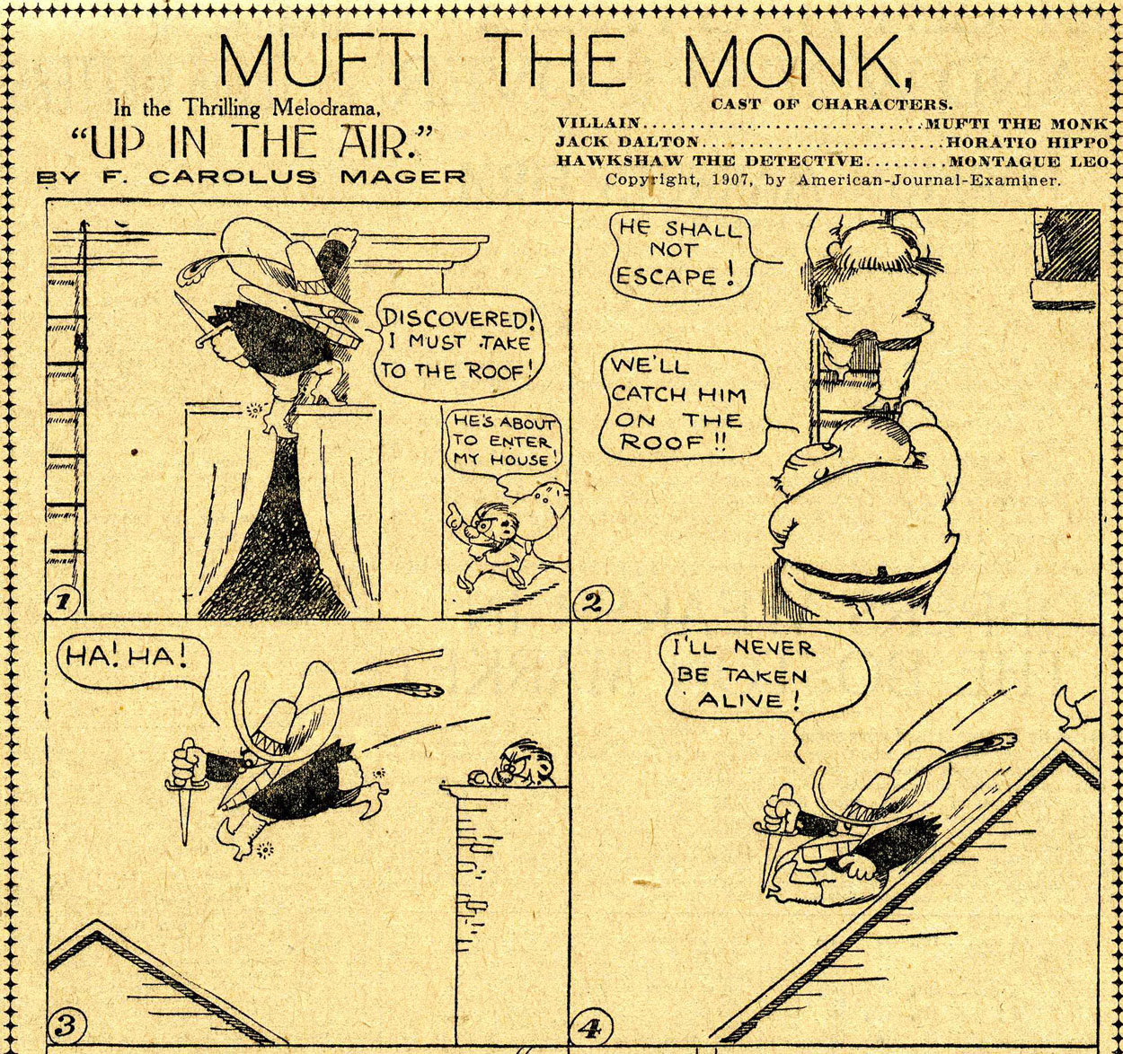 Mufti the Monk (in the San Francisco Examiner, 25/10/1907) by Gus Mager