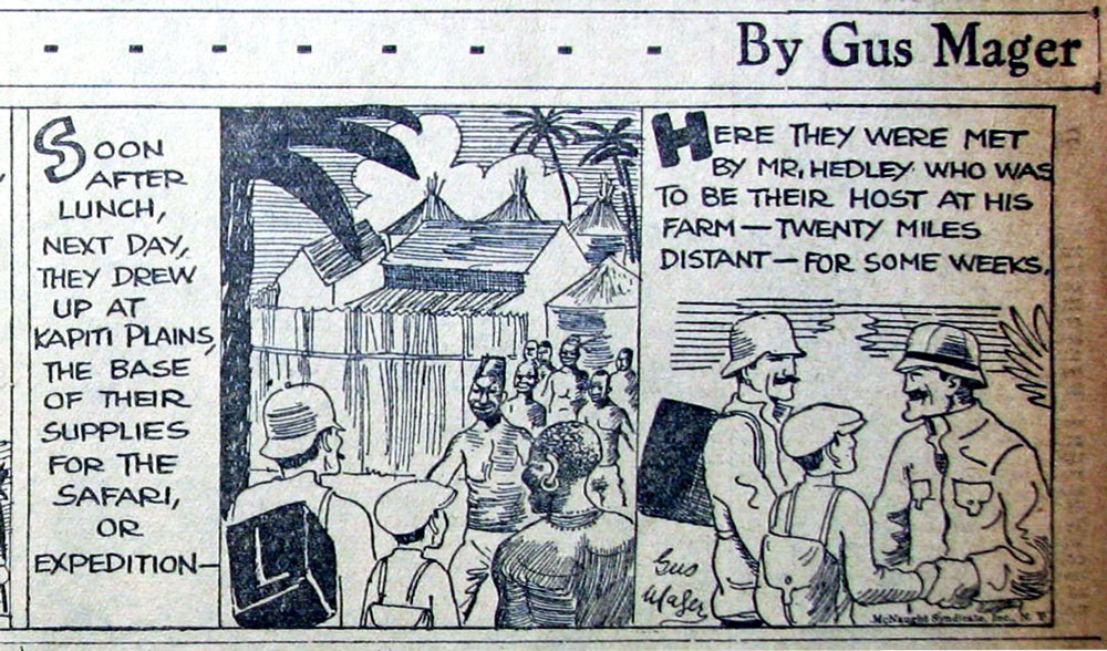 Oliver's Adventures (San Francisco Chronicle, 2 April 1928), by Gus Mager