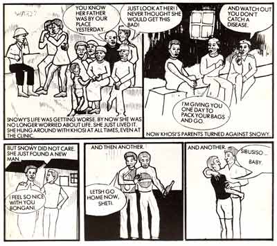 comic art by Zanele Mashinini (1986)