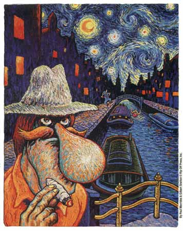 Starry Night in Amsterdam, by Paul Mavrides and Gilbert Shelton