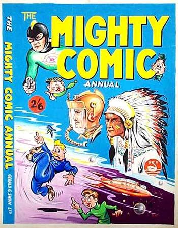 Might Comic Annual cover by John McCail