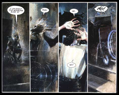 panel from Arkham Asylum, by Dave McKean