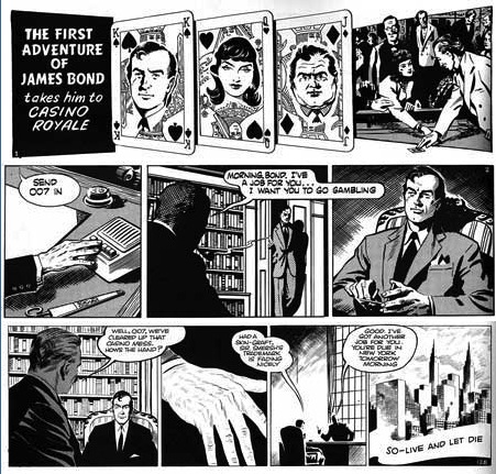 James Bond comic strip, by John McLusky