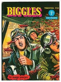 Biggles cover, by Roger Melliès