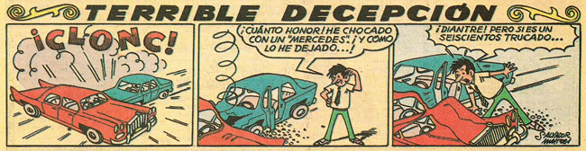 Terrible Decepcion, by Salvador Mestres (Almanaque TBO 1965)