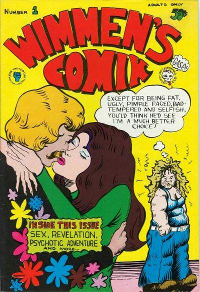 cover for Wimmen's Comix #1, by Pat Moodian