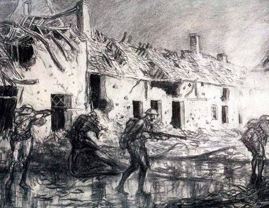 World War I drawing by Wallace Morgan