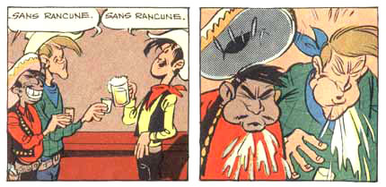 Lucky Luke in Spirou, by Morris