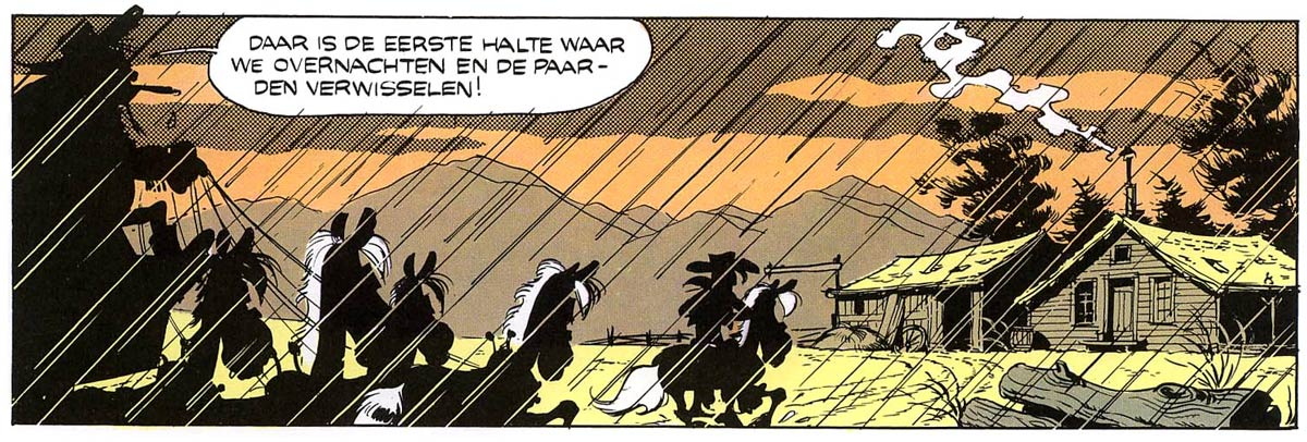 Lucky Luke - La Diligence, by Morris (1968)