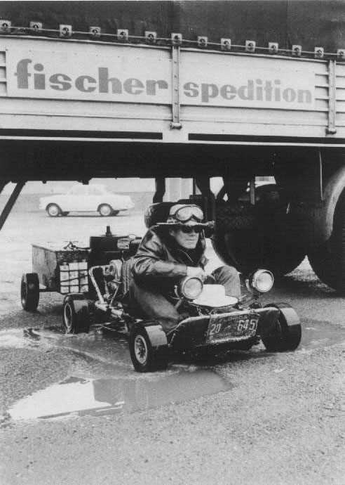 Gokart trip, Hannover, Germany, 1962.