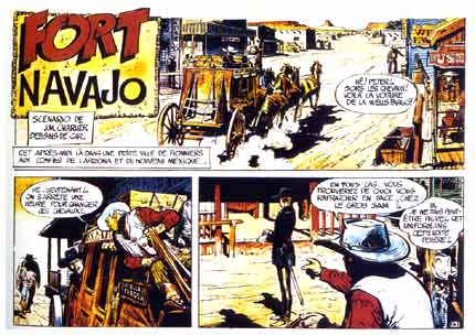 First appearance of Blueberry, by Giraud and Charlier