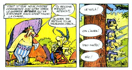 First appearance of Ast�rix, by Goscinny and Uderzo