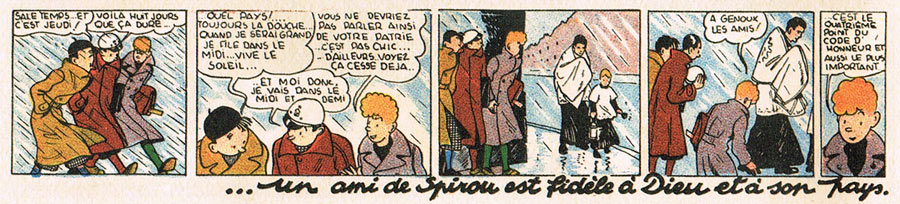 Rule number 4 of the Spirou code of honour