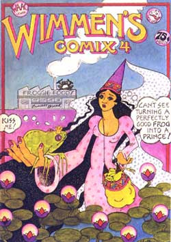 Wimmen's Comix #4, cover by Shelby Sampson 1974
