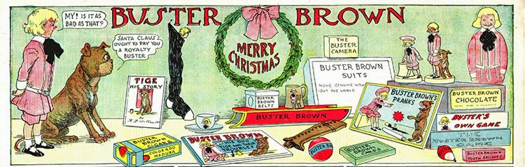 examples of Buster Brown merchandise in this 1905 strip