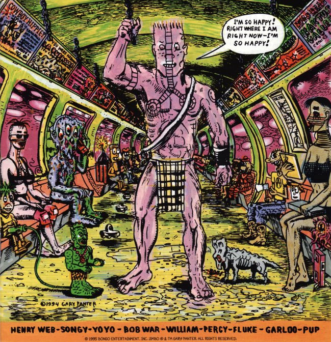 comic art by Gary Panter