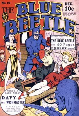 Blue Beetle Cover (1941), by Ramone Patenaude
