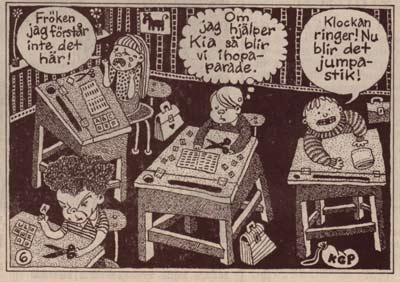 Dagen Nyheter, by Joakim Pirinen (from the first schoolday special, 1989)
