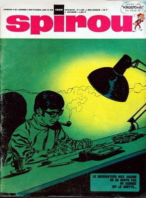 Cover for Spirou, by Arthur Piroton