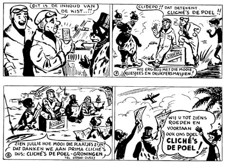 advertising comic for De Poel's company